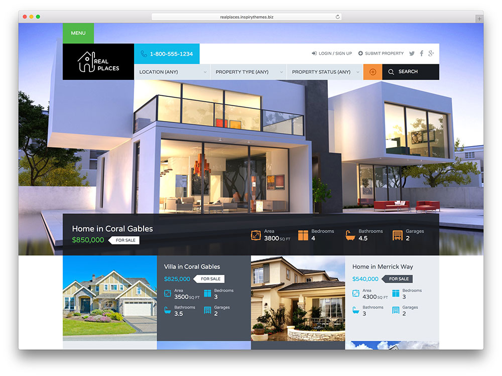 Idx real estate websites miami jml web design Home decor website